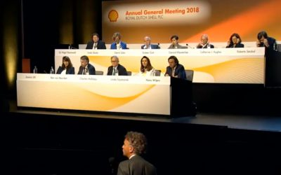 Ben van Beurden and Mark van Baal debate Shell's climate ambitions during the AGM