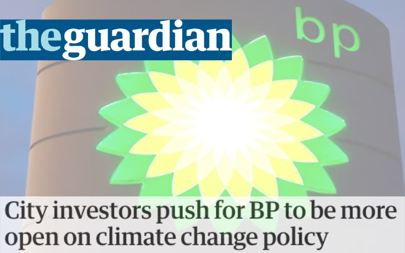 City investors push for BP to be more open on climate change policy