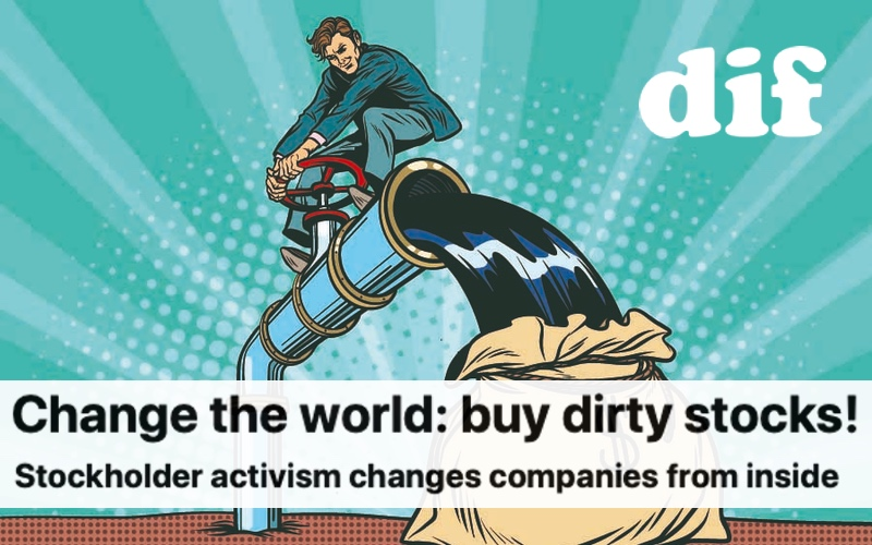 Change the world: buy dirty stocks!