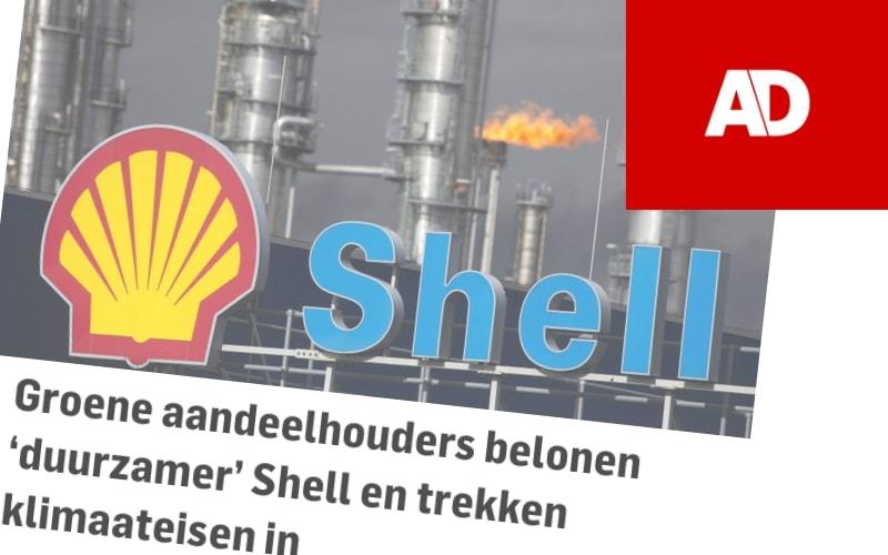 Groene aandeelhouders belonen 'duurzamer' Shell en trekken klimaateisen in