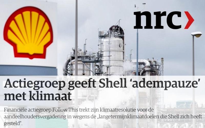 Actiegroep geeft Shell 'adempauze' met klimaat