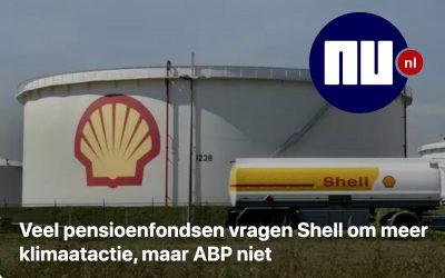 Veel pensioenfondsen vragen Shell om meer klimaatactie, maar ABP niet