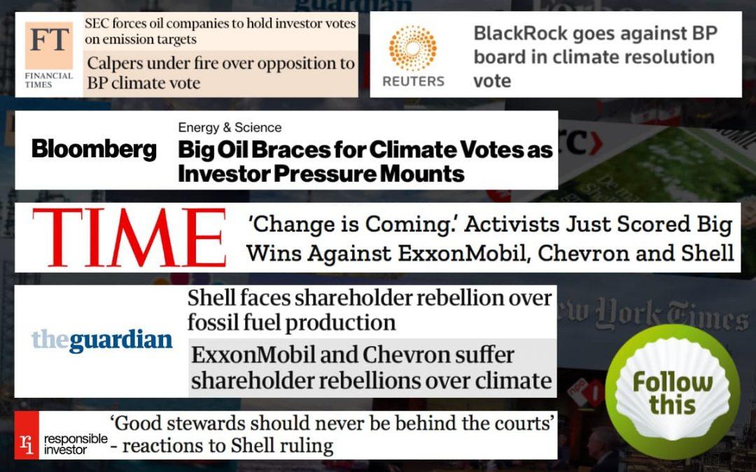 Big headlines following Big Oil's 2021 AGM season
